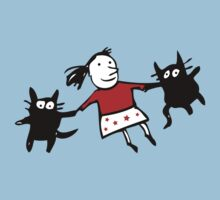 Happy Jumping Cats Kids Tee