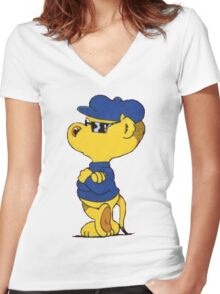 Ferald: The Smooth Ferret Women's Fitted V-Neck T-Shirt