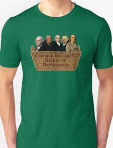 Croocked Hillary's Basket Of Deplorables Unisex T-Shirt
