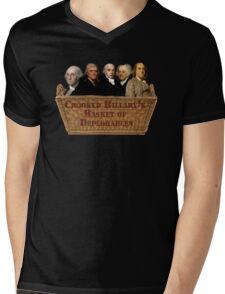 Croocked Hillary's Basket Of Deplorables Mens V-Neck T-Shirt