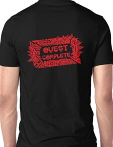 Monster Hunter Quest Complete angled Unisex T-Shirt
