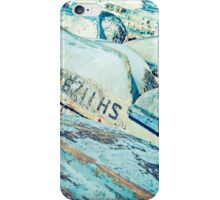 Brightly coloured fishing boats iPhone Case/Skin