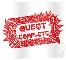 Monster Hunter Quest Complete angled Poster