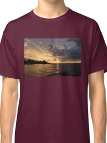 Rough Sunrise - Golden God Rays and Purple Clouds Classic T-Shirt