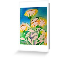 Sunshine daisies in ink Greeting Card