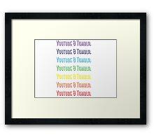 Youtube & Tumblr Framed Print