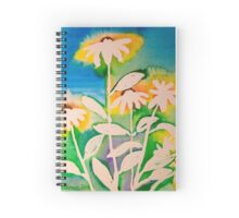 Sunshine daisies in ink Spiral Notebook