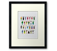 Superhero Alphabet 2 Framed Print