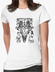 Skull and crossed phones Womens Fitted T-Shirt