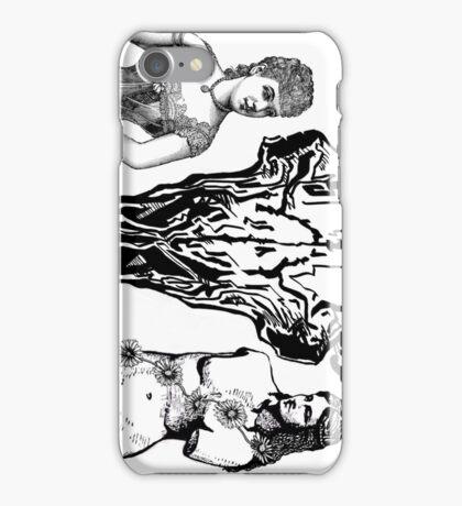 Skull and crossed phones iPhone Case/Skin