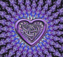 Celtic Heart Knot Fractal Mandala Sticker