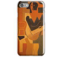Juan Gris - Harlequin With Guitar iPhone Case/Skin