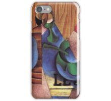 Juan Gris - Glass Cup And Newspaper 1913 iPhone Case/Skin