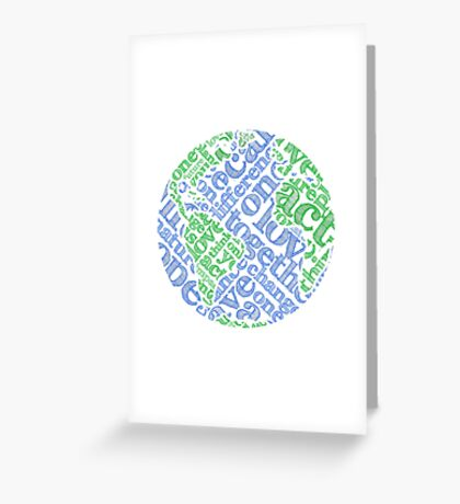 Earth Day: Love. Act. Change. Greeting Card