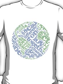 Earth Day: Love. Act. Change. T-Shirt