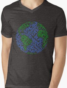 Earth Day: Love. Act. Change. Mens V-Neck T-Shirt