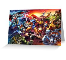 Power Thundercats Greeting Card