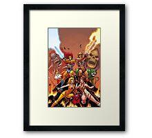 Thundercats & He Man Framed Print