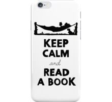 KEEP CALM AND READ A BOOK iPhone Case/Skin
