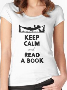 KEEP CALM AND READ A BOOK Women's Fitted Scoop T-Shirt