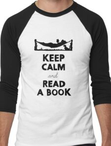 KEEP CALM AND READ A BOOK Men's Baseball ¾ T-Shirt