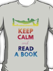 KEEP CALM AND READ A BOOK (RAINBOW) T-Shirt