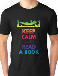 KEEP CALM AND READ A BOOK (RAINBOW) Unisex T-Shirt