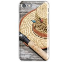 Hat with rods iPhone Case/Skin