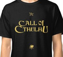 CALL OF CTHULHU - Logo (gold with elder sign & chaosium) Classic T-Shirt