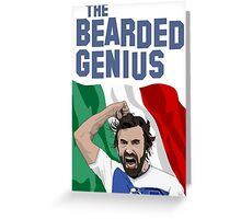 The Bearded Genius Greeting Card