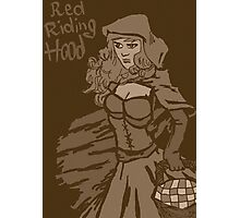 Red riding hood vintage Photographic Print