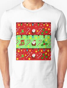 Christmas pattern - green and red Unisex T-Shirt