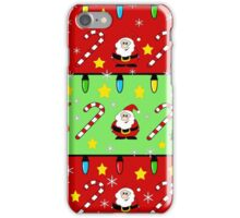 Christmas pattern - green and red iPhone Case/Skin