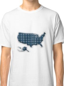 Map of the USA with photovoltaic solar panels.  Classic T-Shirt