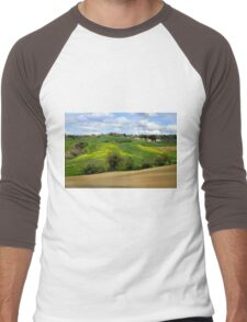 Tuscany landscapes Men's Baseball ¾ T-Shirt