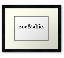 Zoe&Alfie. Framed Print