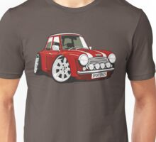 Rover Mini Sportspack caricature red Unisex T-Shirt