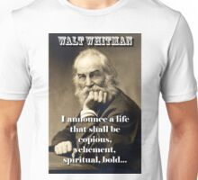 I Announce A Life - Whitman Unisex T-Shirt