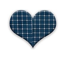 Love heart with photovoltaic solar panels. Photographic Print