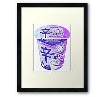 Purple Korean Shin Cup Ramen Framed Print