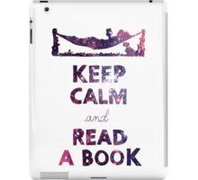 KEEP CALM AND READ A BOOK (Space) iPad Case/Skin