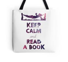 KEEP CALM AND READ A BOOK (Space) Tote Bag