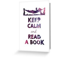 KEEP CALM AND READ A BOOK (Space) Greeting Card