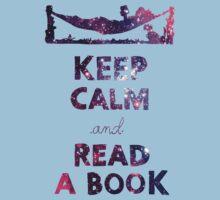 KEEP CALM AND READ A BOOK (Space) Kids Tee