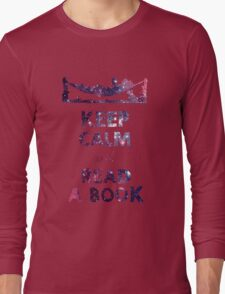 KEEP CALM AND READ A BOOK (Space) Long Sleeve T-Shirt