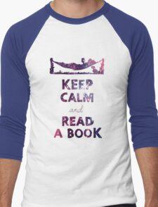 KEEP CALM AND READ A BOOK (Space) Men's Baseball ¾ T-Shirt