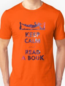 KEEP CALM AND READ A BOOK (Space) Unisex T-Shirt