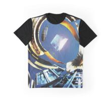 Gravity center blue Graphic T-Shirt