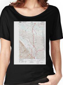 USGS Topo Map Oregon Portland 20110901 TM Women's Relaxed Fit T-Shirt