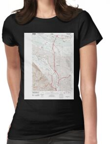 USGS Topo Map Oregon Portland 20110901 TM Womens Fitted T-Shirt